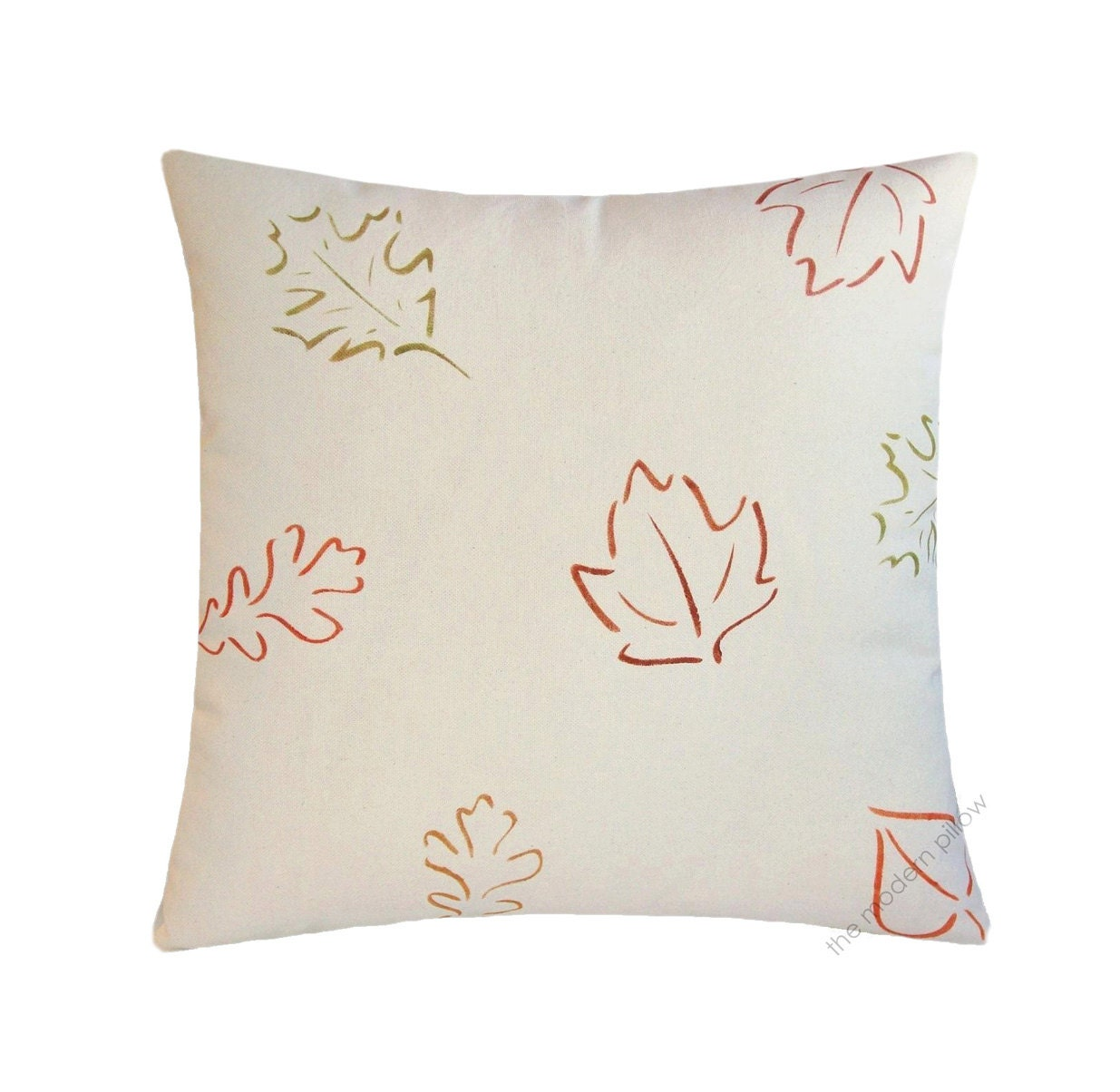 Falling Fall Leaves Decorative Throw Pillow Cover / Pillow