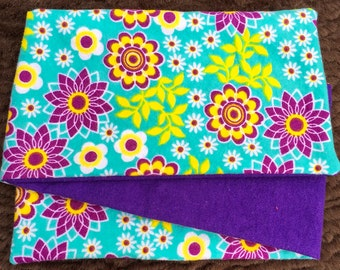Bright Flowers, *** STAGE 2*** Children's G Tube Belly Band Wrap, (waist size 20-22 inches)