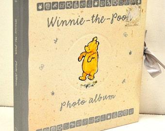 Winnie-the-Pooh Photo Album, with fabric ties
