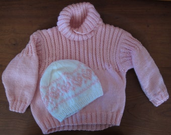 Child's Knit Sweater and Cap set