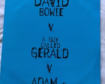 David Bowie 45 single12 inch Telling Lies re- mix UK PRINT
