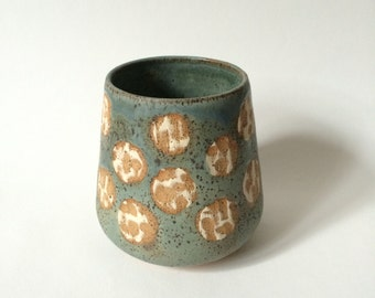 Carved dot vase