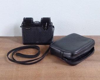 Vintage 70's 'Sekotak Pocket Oblong' Black Binoculars Set with Pouch