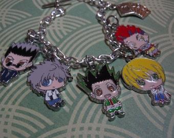 Hunter X Hunter Bracelet, Anime Charm Bracelet, Anime Gamer Jewelry