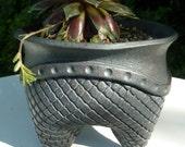Charcoal Gray Ceramic Planter