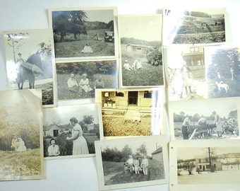 Vintage Snapshots Down on the Farm
