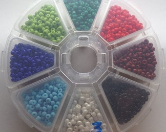 3mm Glass Seed Beads, Variety Pack, Approximately 150g, SB3