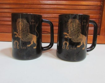 Leo Lion Zodiac Set of 2 Coffee Mugs