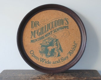 Vintage Dr. McGillicuddy's Mentholmint Schnapps Advertising Tray