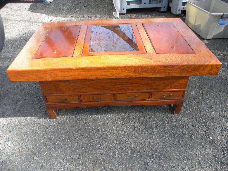 Fantastic Vintage 1970s Cigar Humidor Smoking Coffee Table