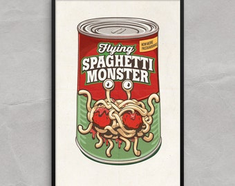 """Shop """"flying spaghetti monster"""" in Art & Collectibles"""