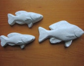 Ceramic Fish Tiles -- Pale Blue Glaze, Realistic Fish, bathroom decor, beach house, backsplash