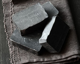 Activated Charcoal Soap, Detox Soap, Cold Process Soap, Unscented, Charcoal