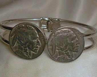 United States Vintage Indian Head  Nickel Bracelet 1935