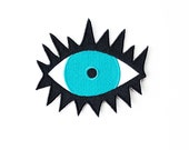 Evil Eye Patch - Iron On Embroidered Applique - Lips, Mouth
