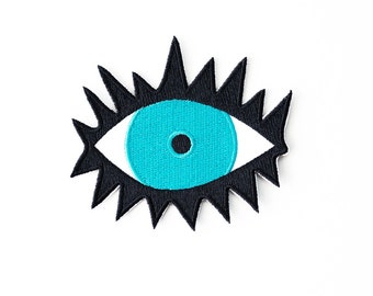 Evil Eye Patch - Iron On Embroidered Applique