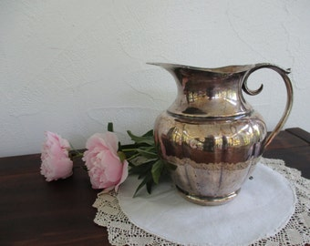 Sweet vintage silver-plate pitcher ~ pour yourself some romance