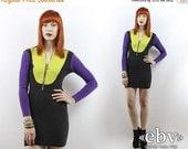 Vintage 90s Colorblock Bandage Dress XS S Bodycon Dress Colorblock Dress Club Dress Party Dress 90s Dress Club Kid Dress Black Dress