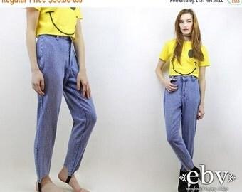Vintage 80s High Waisted Stirrup Jeans S 26 Mom Jeans Skinny Jeans Hipster Jeans High Waisted Jeans Stirrup Pants High Waist Jeans