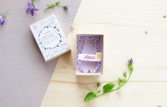 Merci box (petite) - remerciements témoins - Cadeau témoin - Cadeau mariage