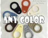 ANY COLOR towel ring holder, slips over a cupboard or drawer knob!  Great for holding dish or hand towels in the kitchen, bathroom, laundry