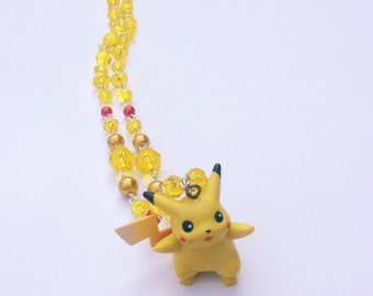 Awesome Pikachu Pokemon Rosary Jewelry Necklace - Pokemon Jewelry - Pokemon Necklace