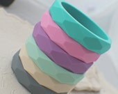 Silicone Teething Bangle - Silicone Nursing Bracelet - Silicone Bangle - BPA Free - Teething Baby Bracelet - 6 colors to choose From