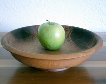 "10% OFF - Vintage Myrtlewood 12"" Bowl with Pedestal"
