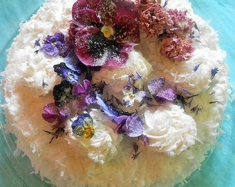 Candied FLOWERS, Cake Toppers, Purple, Burgundy, Something Blue, Violas, Pansies, Edible Hibiscus,Roses,Purple Bachelor Button Florets