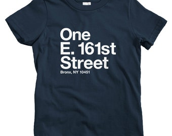 Kids New York Baseball Stadium BXNY T-shirt - Baby, Toddler, and Youth Sizes - NYC Tee, Bronx, Sports, Fan - 4 Colors