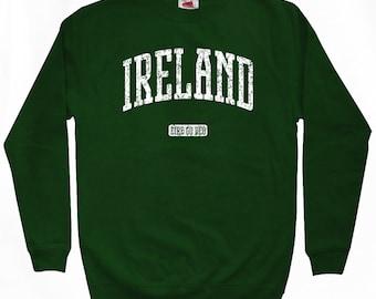 Ireland Sweatshirt - Men S M L XL 2x 3x - Ireland Shirt - Eire, Irish - 4 Colors