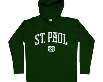St. Paul 651 Hoodie - Men S M L XL 2x 3x - Saint Paul Minnesota Hoody, Sweatshirt, Twin Cities - 4 Colors