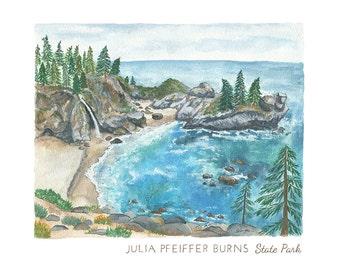Julia Pfeiffer Burns State Park Print