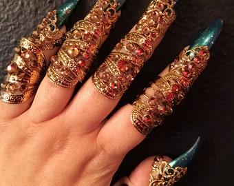 Full finger stackable rings. Set of 10