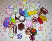 Set of 25  Polymer Clay Food Charms - Jewelry Charm Assorment