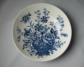 Vintage blue Transfer Ware salad bowl My Lady's Bouquet Noritake