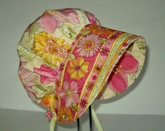 Baby Bonnet - Baby Hat - Baby Sun Bonnet - Toddler Bonnet - Newborn Bonnet - Sun Hat - Bonnet - Baby Shower Gift -  Made To Order