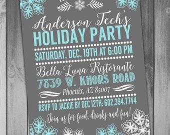 Holiday Party Invitation Holiday Party Invite Christmas Party Invitation Christmas Party Invite Winter Party Invitation Winter Wonderland