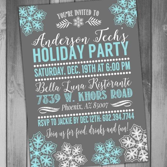 holiday party invitation holiday party invite christmas party, Party invitations