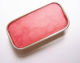 Zero Waste Vegan Lipstick - Just Peachy  Mineral Lip Color - Lipstick In A Tin - Vegan Mineral Makeup -  Cruelty Free Cosmetics