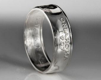 Oklahoma Quarter Ring - SILVER (.900)