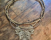 Web of Lace Four Strand Necklace