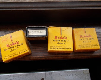 3 Series V Kodak ring, lens, and filter and agia topas filter