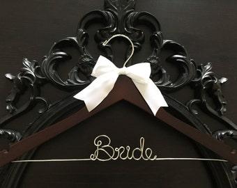 Wedding Hanger, Bridal Hanger, Personalized Custom Bridal Hanger, Brides Hanger, Bride, Name Hanger, Personalized Bridal Gift