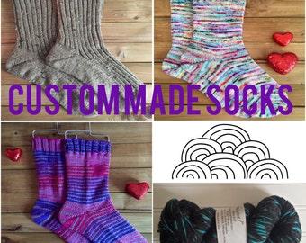 Handknit Socks - Merino/Nylon/Silk/Silver