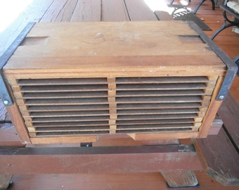 Antique Wooden Cigar Tobacco Drying Box
