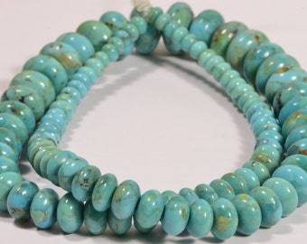 Nevada Turquoise Rondelle Beads Jewelry Making Supplies Turquoise Beads