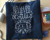 She Believed She Could So She Did, Lined Pouch, Holds Cosmetic Compacts, Phone Cords and More