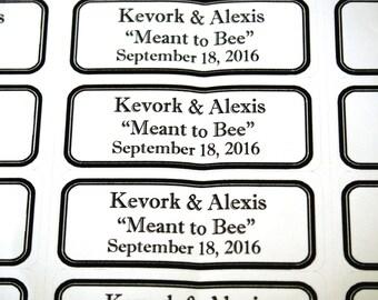 Wedding Favor Jar Labels, Personalized Jar Favor Labels, Mini Mason Jar Labels, Custom Mini Mason Jar Labels, Custom Wedding Favor Labels