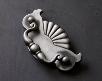 Vintage Silver Toned Decorative Drawer Pull
